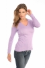 Deep V-Neck in Light Purple